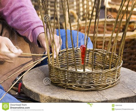 white wicker baskets basket weaving royalty free stock images image 10841049