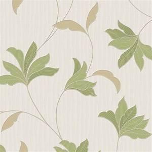Leaf design wallpaper : Graham brown alannah floral leaf pattern glitter