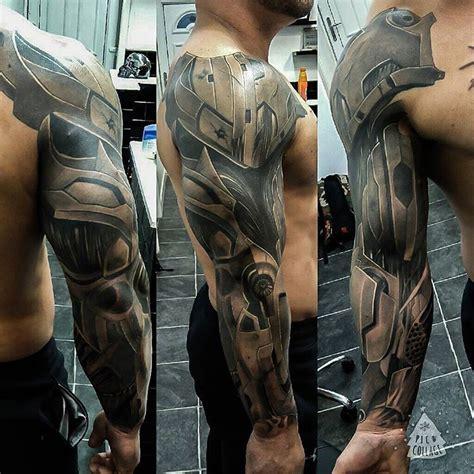 cyborg armor sleeve  tattoo design ideas