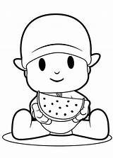 Coloring Watermelon Pocoyo Pages Eating Slice Colouring Printable Melon Drawing Water Super Getcolorings Pato Getdrawings Getcoloringpages Luna sketch template
