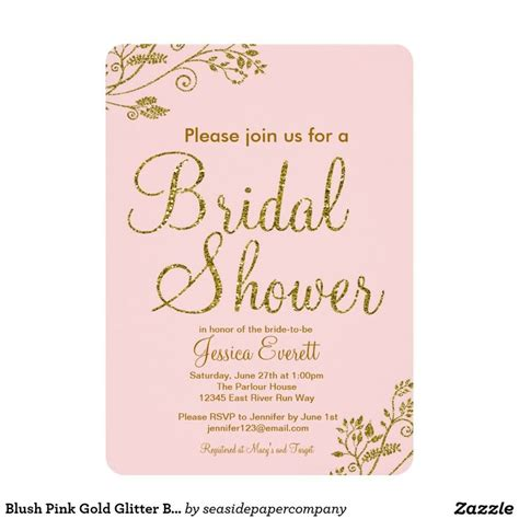 Glitter Bridal Shower Invitations by 25 Best Ideas About Glitter Bridal Showers On