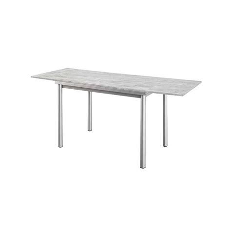 table cuisine rallonge table de cuisine en stratifié basic avec rallonges 4