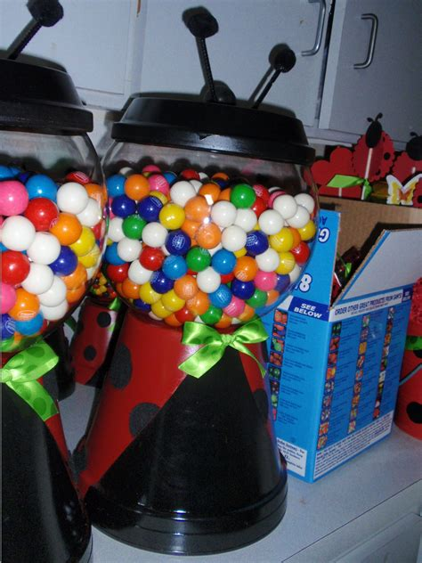 Ladybug Gum Ball Centerpiece Party Pinterest