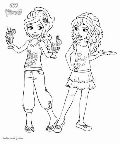 Lego Coloring Pages Friends Drink Printable Adults