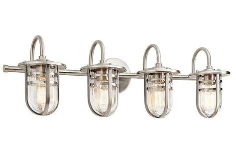 silver caged shade vanity light