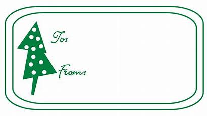 Tag Christmas Clipart Gift Outline Tags Clip