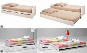 Lit gigogne alinea amazing lit superpos alinea with for Suspension chambre enfant avec matelas latex epeda