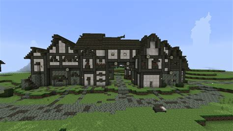 minecraft medieval row housing part  season  youtube