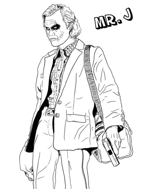 joker coloring pages    print
