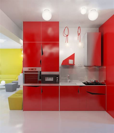 Small Apartment Zinging With Color by Contemporary Small Apartment Designed By Marinenko