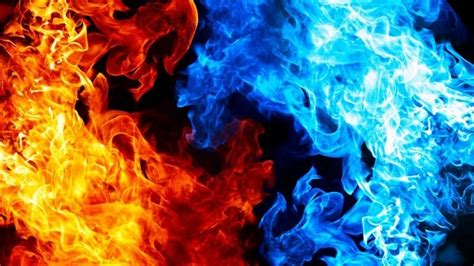 Blue And Red Fire Wallpaper - Abstract HD Wallpapers