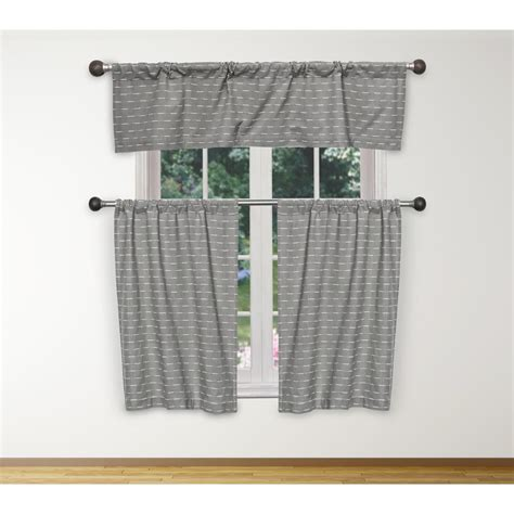 duck river tate kitchen valance  grey white