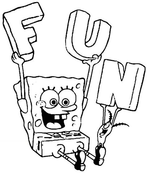 spongebob coloring page learn to coloring