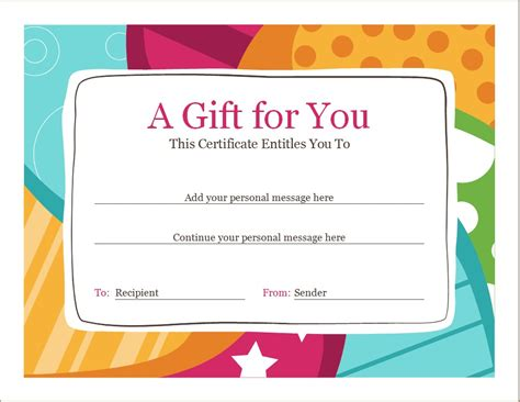 birthday voucher template word excel templates