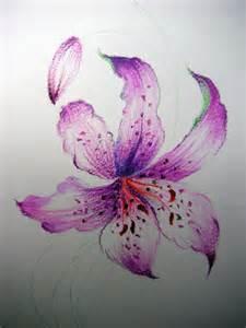 Feuille De Lys : le lilium couleurs dessin et peinture pas pas ~ Nature-et-papiers.com Idées de Décoration