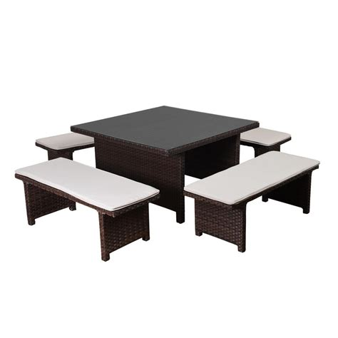hton bay beverly 5 patio dining set with cardinal