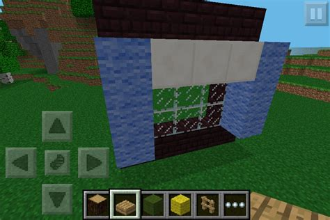 Minecraft Pocket Edition Bathroom Ideas blue curtains minecraft furniture