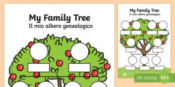 family tree englishitalian  family tree worksheets