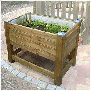 Bac En Bois Pour Potager : bac plante potager sur pied jardini re sur pied ~ Dailycaller-alerts.com Idées de Décoration