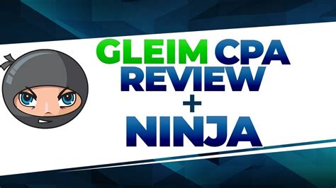 gleim cpa review ninja cpa review  youtube