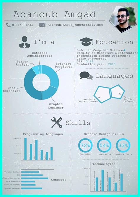 pin  resume sample template  format infographic