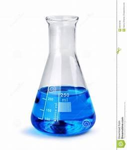 Laboratory Glass Beaker With Blue Liquid Sample Stock ...