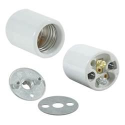 medium base light socket 1 8 ip porcelain
