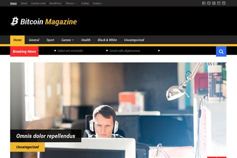 The official account of ₿itcoin magazine. Bitcoin Magazine   Free wp themes   Wp templates