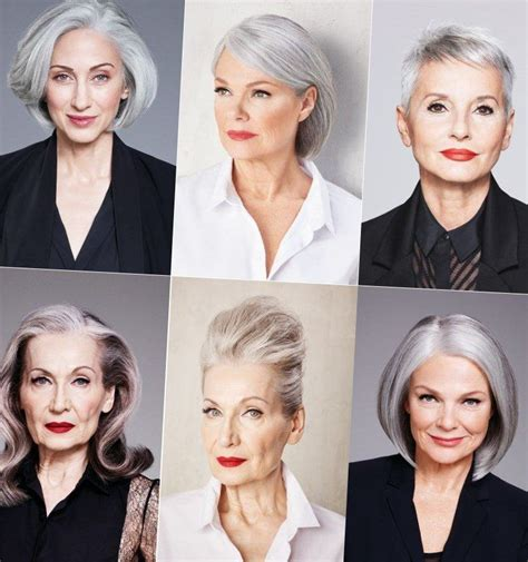 pin  marina hair  frisuren trends   grey hair
