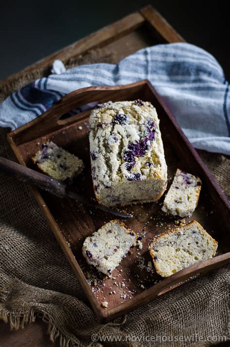blueberry  sour cream loaf  novice housewife