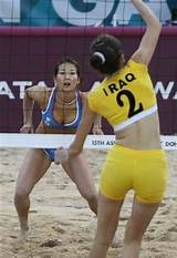 Beach volleyball asian games in qatar
