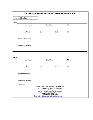 printable  change  address forms  templates