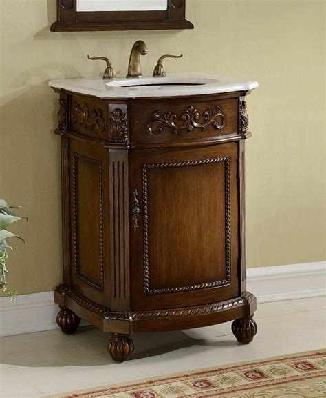 camelot antique bathroom sink vanity cabinet  white