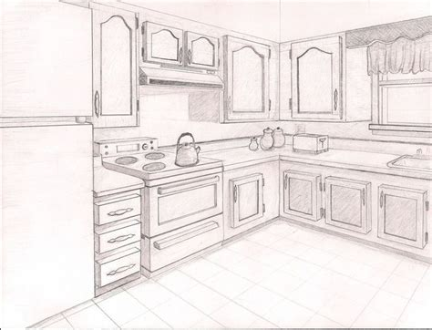 Kuche Zeichnung by 2pt Perspective Point Perspective Drawing Ideas Point