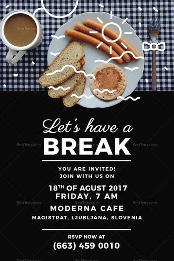 business breakfast invitation template invitation card