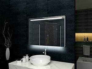 Spiegel Mit Aluminiumrahmen : lux aqua design badezimmerspiegel alu rahmen led beleuchtung mit 540 lumen 80 x 60 mld6080 ~ Sanjose-hotels-ca.com Haus und Dekorationen