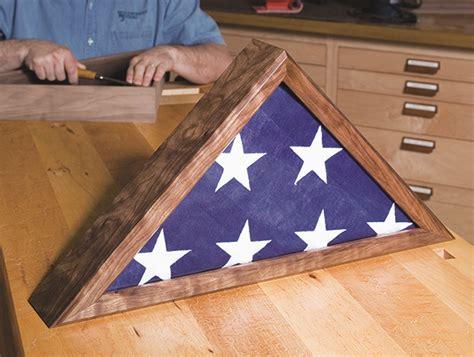 memorial flag case plans  veteran flag display case