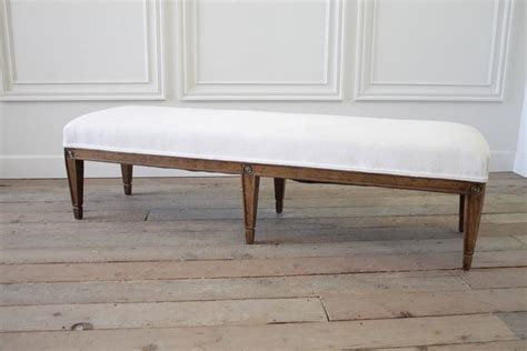 king size bench vintage king size bench with linen ruffle slip cover for