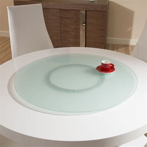 large outdoor indoor frosted glass lazy susan for dining