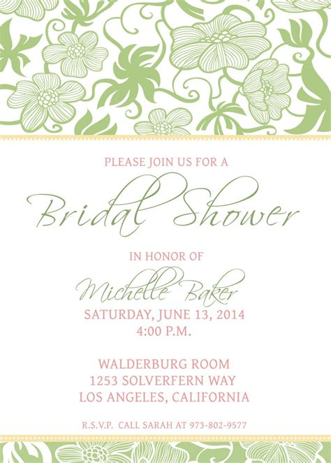 bridal shower party invitations party ideas