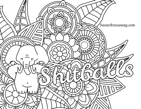 printable adult swear word coloring pages