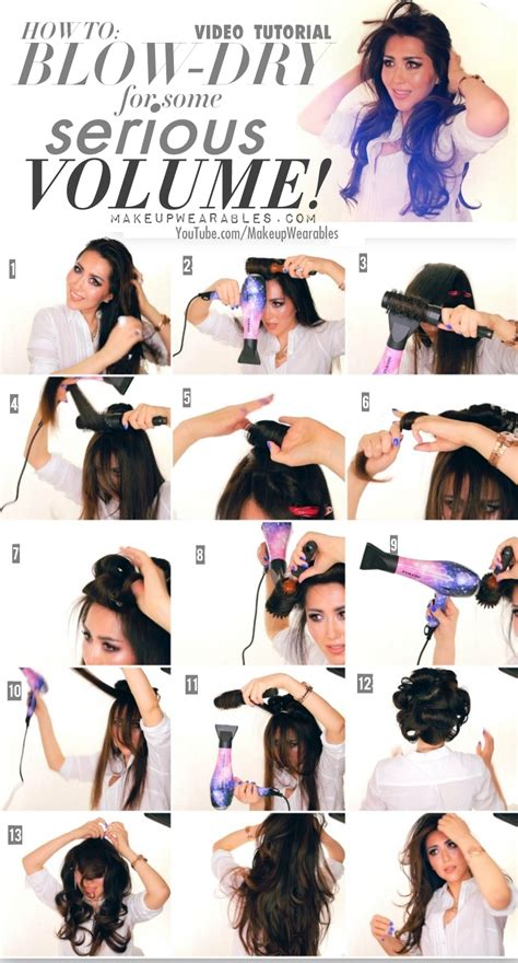 how to style your hair with dryer kardashain voluminous out tutorial how to