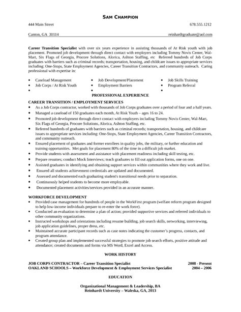functional youth specialist resume template