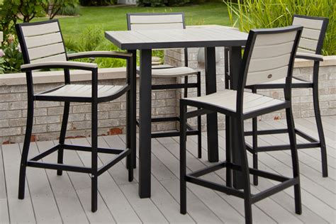 kitchen dinette sets with bench modern outdoor bar height table jbeedesigns outdoor