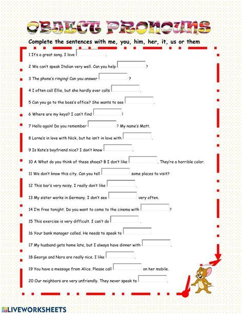 english grammar pronouns worksheet schematic  wiring