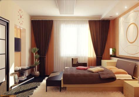 chambre orange et marron rideaux chambre adulte design d 39 intérieur chic en 50 idées