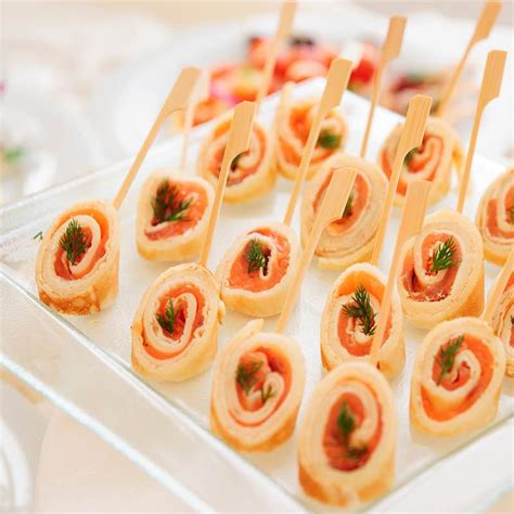 easy no cook canapes salmon rolls canape ideas schwartz