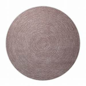 tapis moderne rond colour in motion taupe esprit home 250x250 With tapis rond moderne