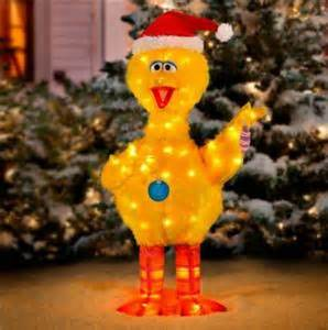 42 quot lighted pre lit sesame street big bird outdoor christmas holiday yard decor