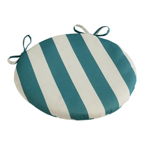 turquoise stripe indoor outdoor bistro chair cushion